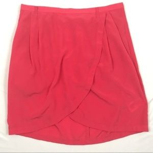 H&M Coral Tulip Pocket Mini Skirt B50
